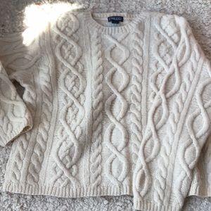 Lands End cream wool sweater, L.